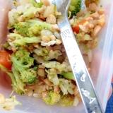 離乳食☆納豆と色々野菜の炒飯