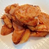❤魚肉ソーセージと生椎茸のケチャマスタード焼き❤