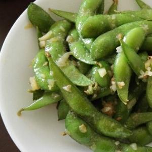枝豆のニンニクマヨ炒め