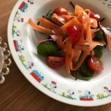 ベビーデトロイトとミニトマト、人参のサラダ