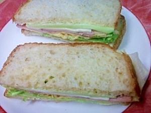 ホームベーカリーでサンドイッチ 私流