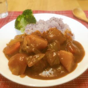 野菜100%ジュースと黒米で作る☆健康カレー♪