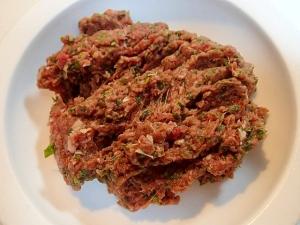 愛犬用 ❤馬肉と白菜とレタスの生姜入りごはん❤