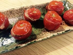 【ガサツ料理】レバーパテのスタッフドトマト