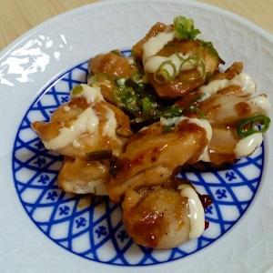 居酒屋風☆鶏肉のねぎマヨポン酢炒め