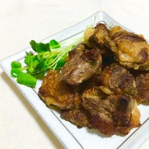 唐揚げ粉で簡単♪にんにく醤油味鶏レバーの唐揚げ♡