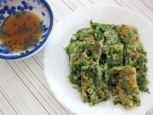 美味しく簡単節約レシピ☆ラディッシュの葉でチヂミ風