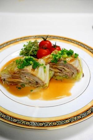 レンジで簡単・時短!白菜と豚肉のミルフィーユ