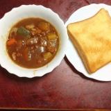 かぼちゃカレーdeトースト【食パンでカレーパン】