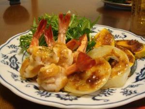 海老と野菜のオーブン焼き