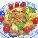 牛カルビ肉と野菜の炒め物