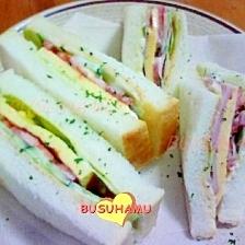 ボリューム満点☆お弁当に☆サンドイッチ3種