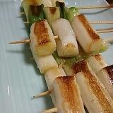 長ネギの串焼き(*^^*)