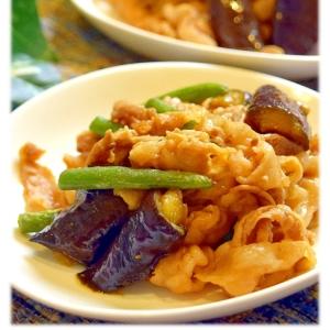 豚バラ肉と茄子のピリ辛味噌炒め