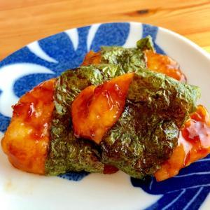 お弁当に‼️☆鶏胸肉の磯辺焼き