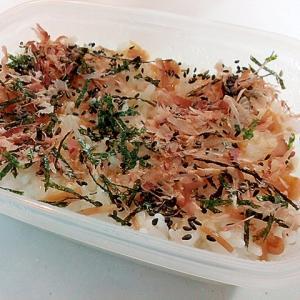 お弁当 なめたけ・海苔・おかか・黒ごまのご飯