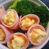 ゆで卵のハムロール