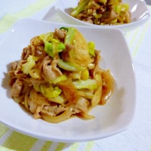 豚肉とキャベツの生姜醤油炒め