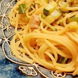 【お手軽簡単】ズッキーニと水菜・豚肉のパスタ