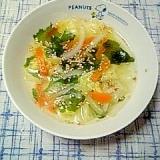 ☆野菜若芽にんにくスープ☆