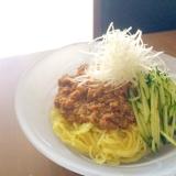 枝豆でまろやか*鶏モモ肉でジャージャー麺の肉味噌