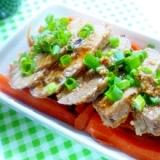 塩麹漬け☆ヒレ肉の焼き豚風味