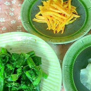 春色三色の野菜 ナムル風