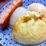 おでんの具、新定番☆絶対おいしい☆大根餅きんちゃく
