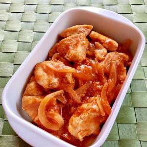 簡単!鶏むね肉のケチャポン炒め