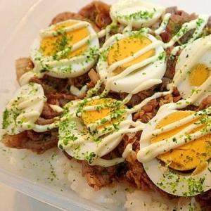❤お弁当 豚ゆで卵丼❤