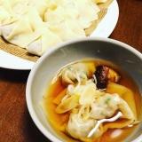 夏バテと戦う*ラム肉と韮と梅肉の和風スープ餃子