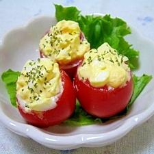 可愛い☆玉子とミニトマトのプチサラダ