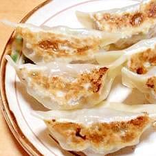 水菜で餃子!!和風で中華な味♪