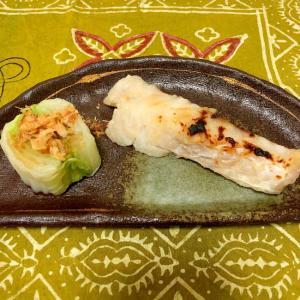 タラの塩麹焼きと白菜のおひたし♪