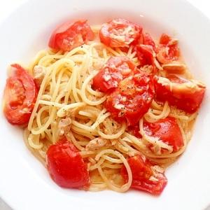 【超簡単】フライパン1つでトマトツナスパゲッティ