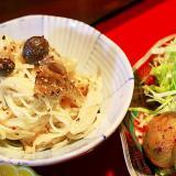 茸と素麺のサラダ