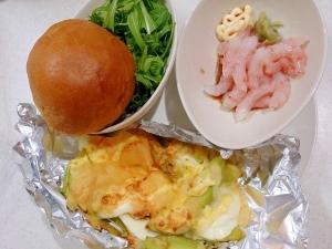 ワンプレート 甘エビとアボカド卵チーズ焼き