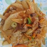 大根と牛肉の炒め物