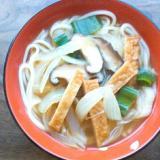 素麺とさつま揚げと椎茸の味噌汁