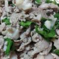【ガサツ料理】豚肉とかぶの葉のオイスター炒め