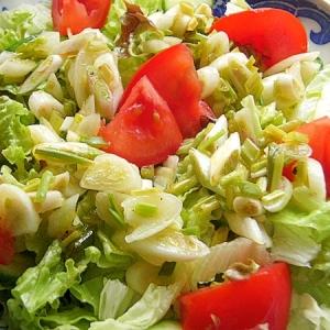 エシャロットのマリネのグリーンサラダ
