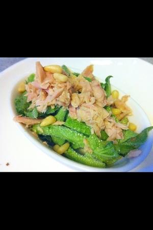 アイスプラントとツナのお手軽サラダ