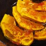 グリルパンで、焼きかぼちゃの酢醤油がけ