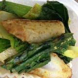 小松菜と竹輪のカレマヨ炒め