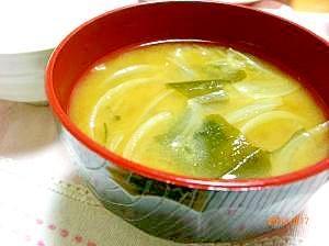 あま~い☆玉ねぎとわかめの味噌汁