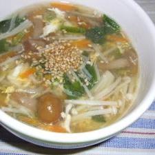 きのこと野菜のとろ~りあったか中華スープ