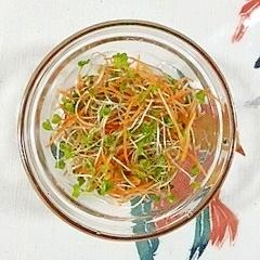 人参とブロッコリースプラウトのサラダ