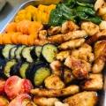 夏の常備菜☆鶏むね肉と茄子とピーマンの焼き浸し