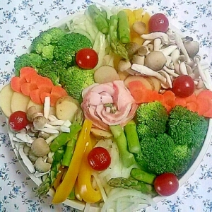 野菜たっぷり&ヘルシー♡彩り蒸し鍋