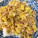 キャベツとひき肉炒め★